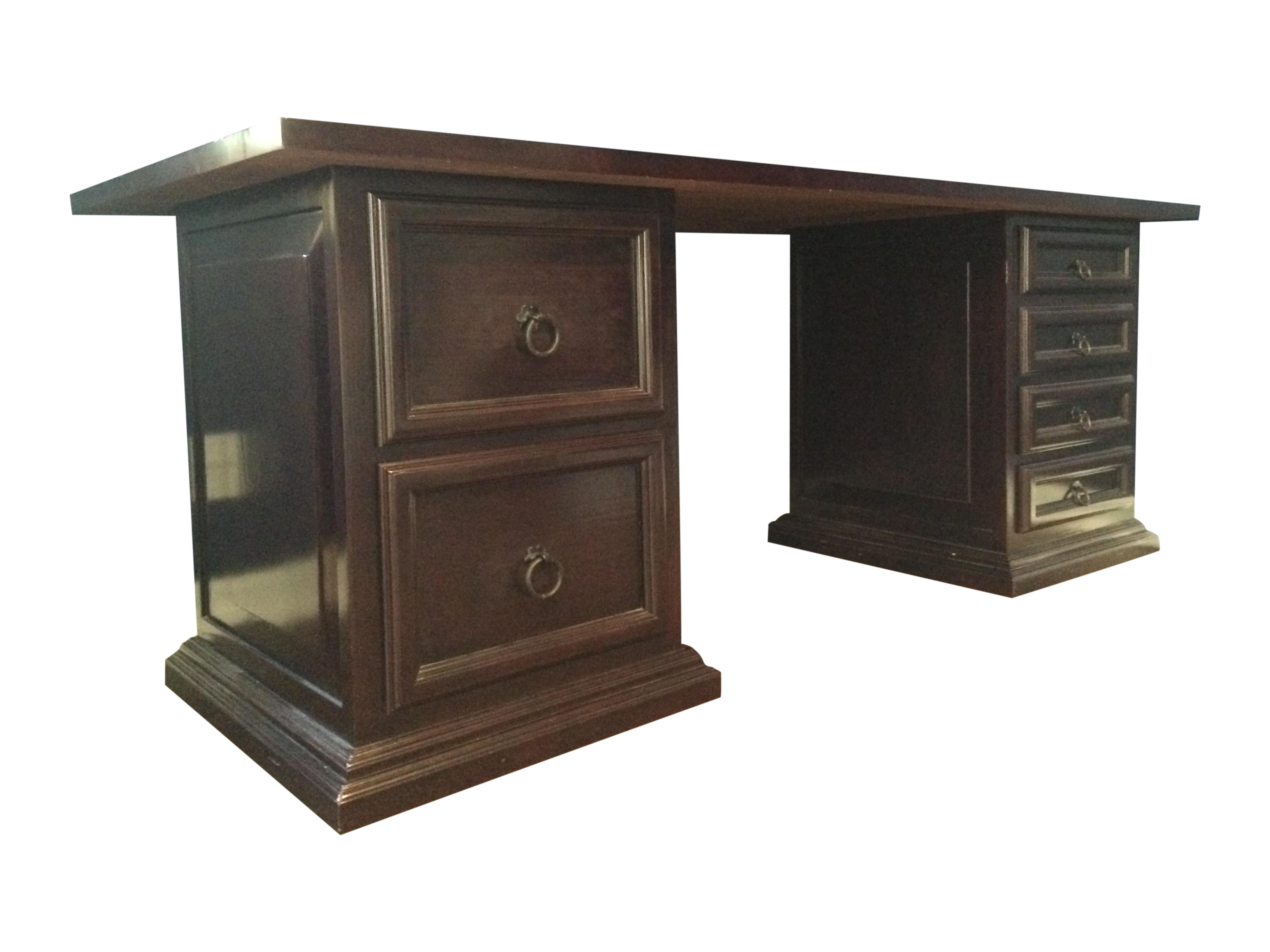 Pampa Furniture Traditional Dark Wood Desk