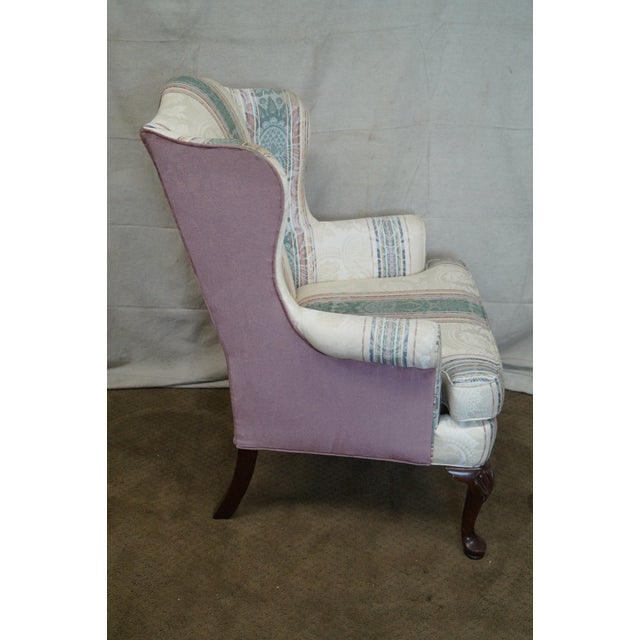 Highland House Hickory Queen Anne Wing Chair - Image 3 of 10