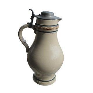 Vintage German Ceramic Beer Stein Pitcher