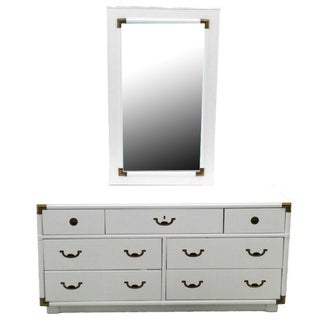 Drexel Accolade Campaign Style Dresser and Mirror