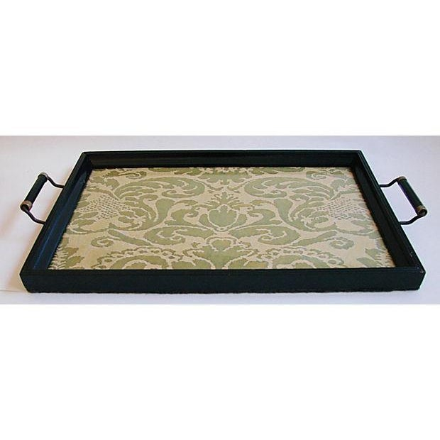 1930s Cocktail Serving Tray W/ Fortuny Fabric - Image 8 of 8