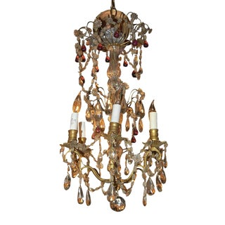 Petite French Crystal Chandelier