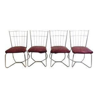 Mid-Century Modern Chrome Chairs - Set of 4