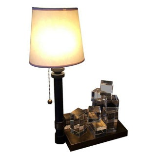 Brass Puzzle Lamp & Tray