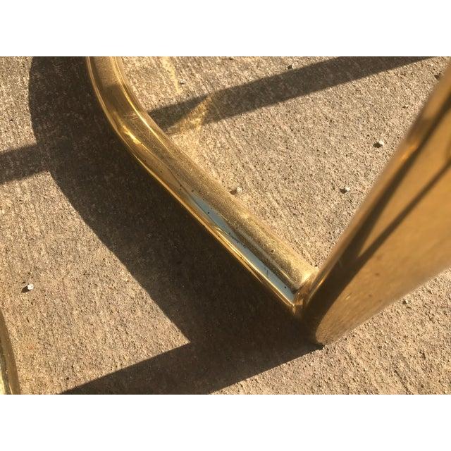 Milo Baughman Style Brass Bar Stools - A Pair - Image 4 of 7