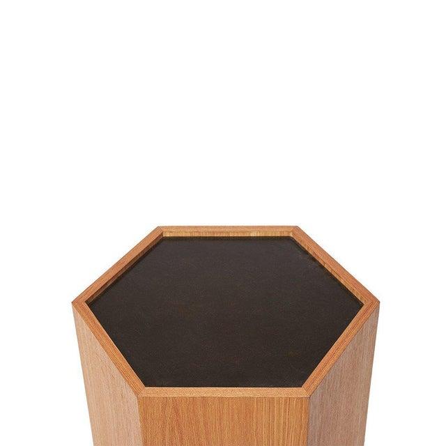 Sabin Oak Hexagon Vallejo Table - Image 3 of 5