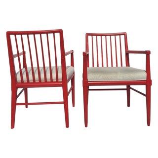 Robsjohn Gibbings Style Armchairs - A Pair
