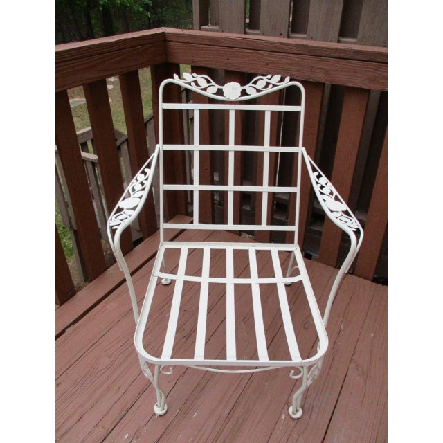 Vintage Russell Woodard Wrought Iron Chairs - Pair - Image 4 of 11