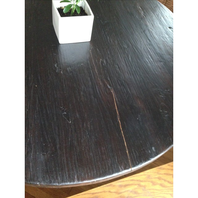 Rustic Reclaimed Elm Plank Dining Table - Image 4 of 4
