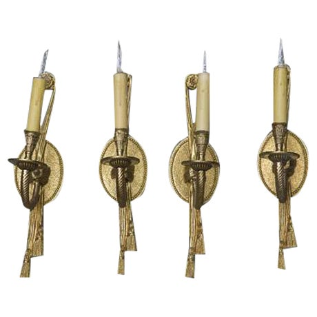 Rope & Tassel Wall Sconces - Set of 4 Chairish