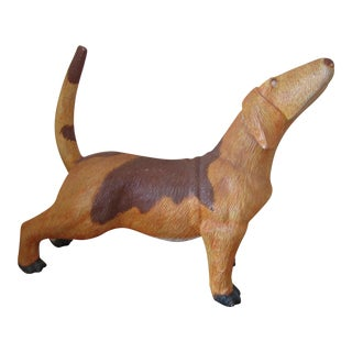 Life Size Handmade Wooden Dog Statue