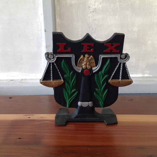 Cast Iron Scale of Justice Door Stop - Image 2 of 11