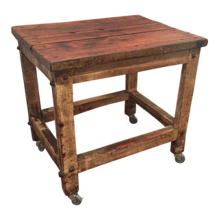 Vintage Rustic Machinist Table