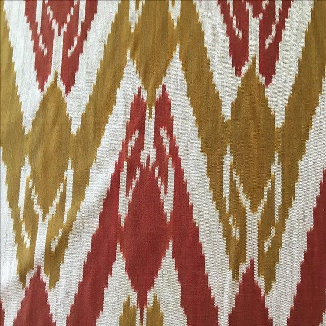 Image of Handwoven Uzbek Ikat Fabric - 3 Yards