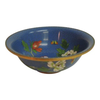 Vintage Cloisonne Footed Bowl
