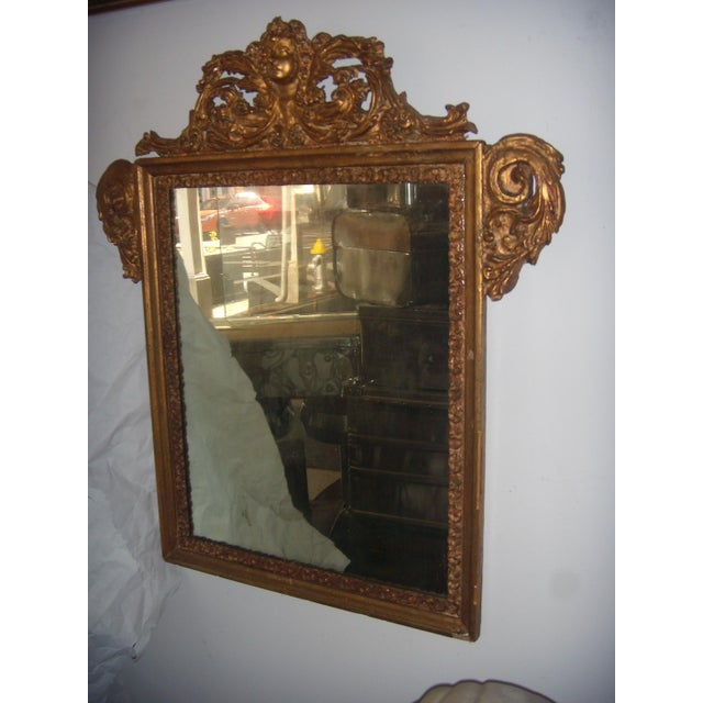 Image of Antique Italian Gilt Cherub Mirror