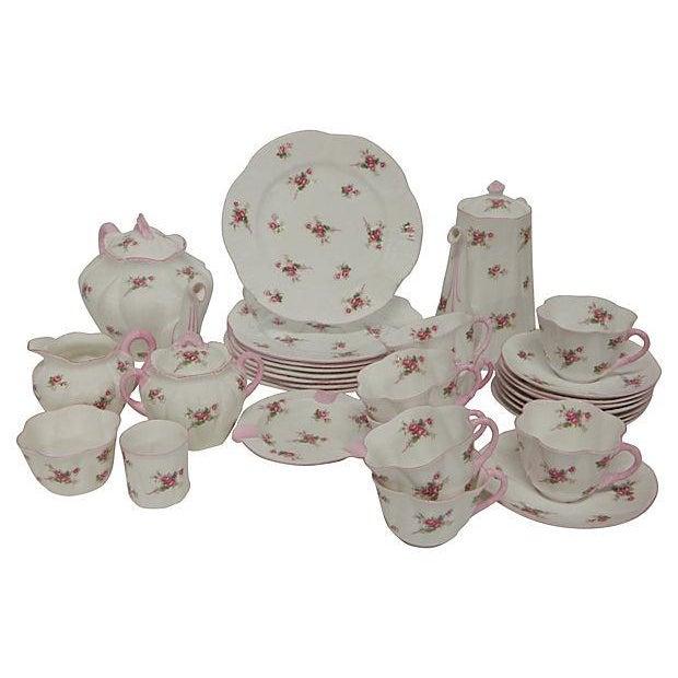 Image of Shelley Bridal Rose Tea Set - 31 Pieces