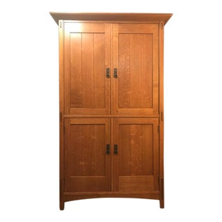 Stickley Mission Style Armoire Entertainment Unit