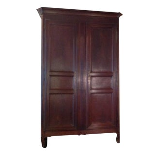 Antique Traditional French Wooden Armoire