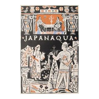 1927 German Art Deco Mini Poster, Japanaqua