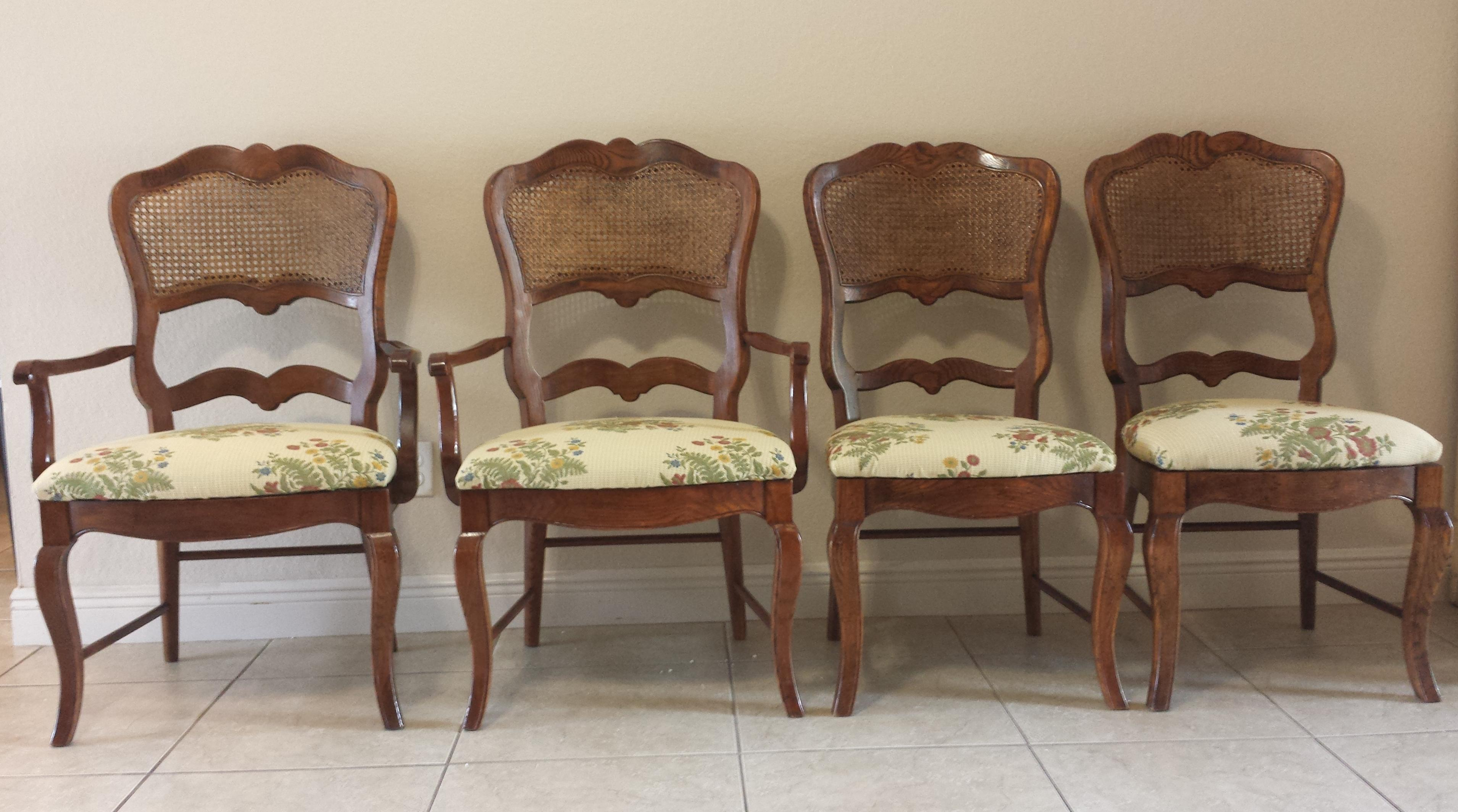 Century French Country Cane Back Dining Chairs Set of 4  : century french country cane back dining chairs set of 4 3676aspectfitampwidth640ampheight640 from www.chairish.com size 640 x 640 jpeg 38kB
