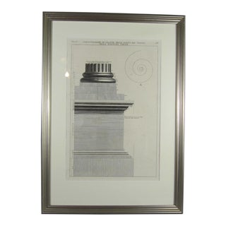 19th Century Study for a Column Base by G. Piranesi