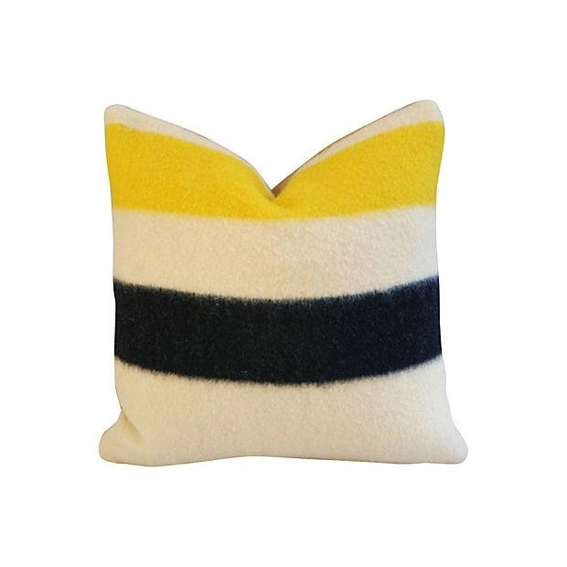 Authentic Hudson's Bay Blanket Pillows - a Pair - Image 3 of 7
