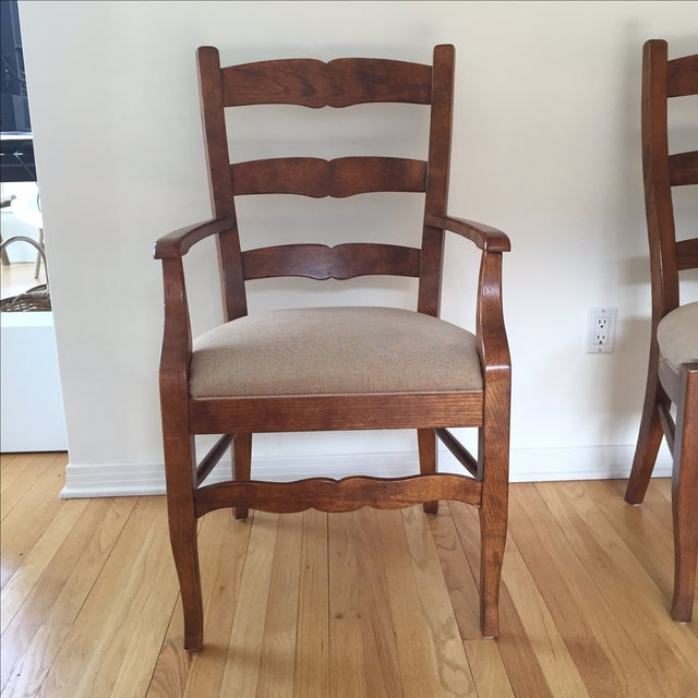 Henredon Ladder Back Dining Chairs - Set of 6 - Image 4 of 5
