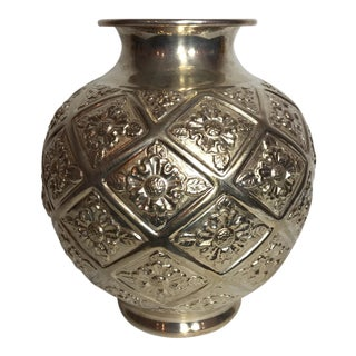 Camusso Peruvian Sterling Repousse Vase