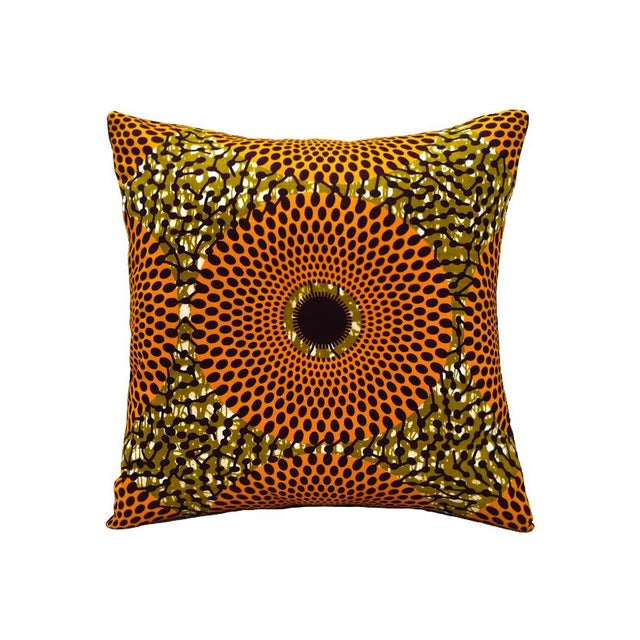 Summer Harvest African Wax Print Pillows- Pair - Image 4 of 5