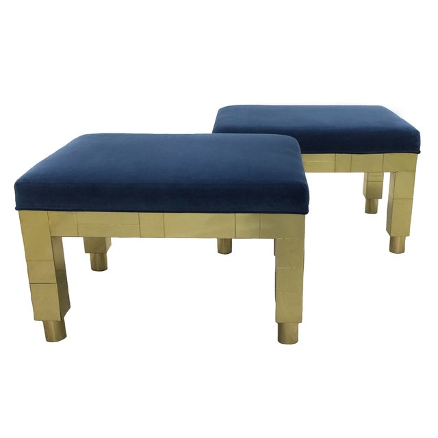 Paul Evans Cityscape Benches- A Pair - Image 1 of 6