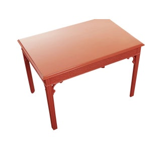 Lacquered Fretwork Accent Table