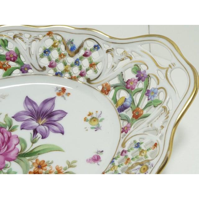 Vintage Porcelain Schumann Dresden Flowers Dish - Image 4 of 8