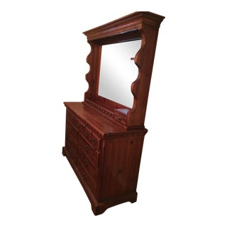 Link-Taylor Colonial Pine Collection Dresser & Mirror