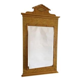 Baker Mid Century Modern Federalist Birdseye Maple Wall Mirror