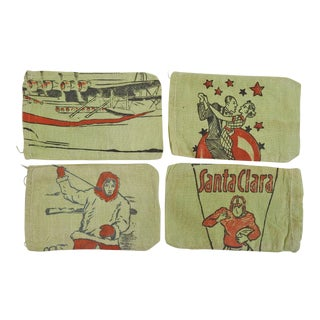 Football, Roaring 20's, China Clipper, Eskimo Fabric Bags - Set of 4