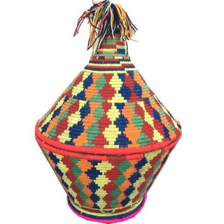 Large Moroccan Woven Basket