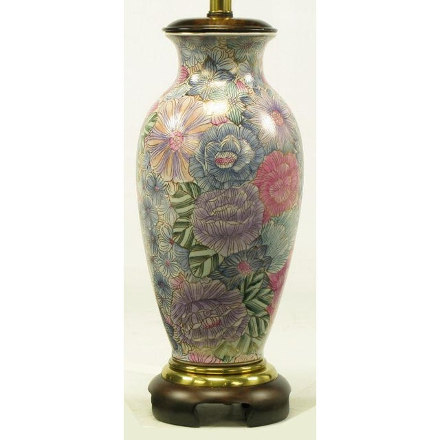 Image of Frederick Cooper Hand Painted & Gilt Porcelain Vase Table Lamp