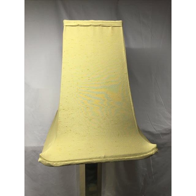 Hexagonal Brass Column Floor Lamp - Image 4 of 9