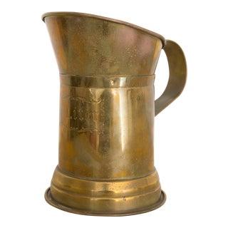 Vintage Brass Liter Pitcher