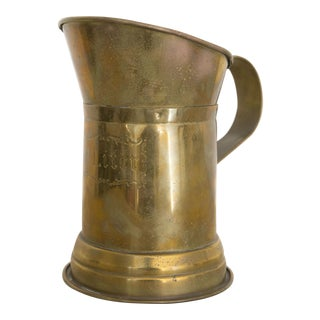 Vintage Brass Liter Pitcher