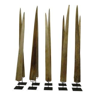 Set of Ten Swordfish Rostrums