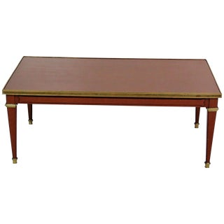 Brass Accented Coffee Table