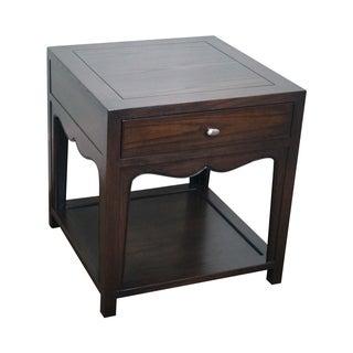 Baker Modern Asian Influenced 1 Drawer End Table
