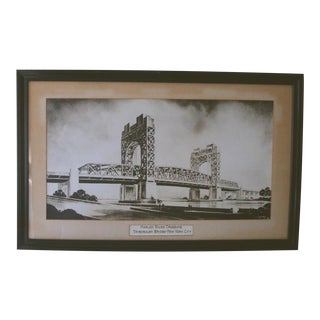 1930s New York City Architectural Lithograph