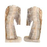 Image of Handmade Onyx Horse Bookends - A Pair