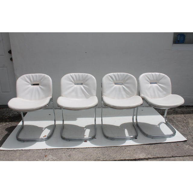 Gastone Rinaldi Italian Chrome Chairs - Set of 4 - Image 5 of 11