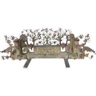 Italian Carved Wedding Cart Axle, Sicily
