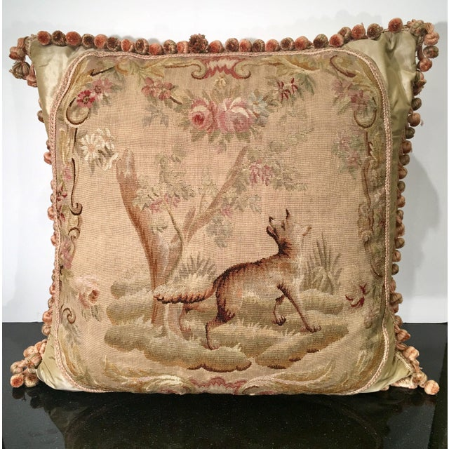Antique Aubusson Textile Scenic Tapestry Pillow Chairish