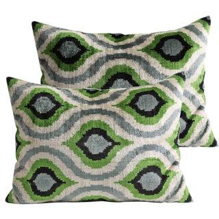 Silk Velvet Pillows - A Pair